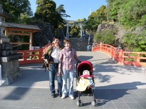 In front of Takeda Shrine