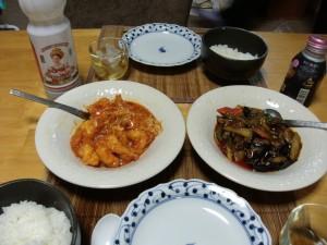 Chinese eggpants and shripm