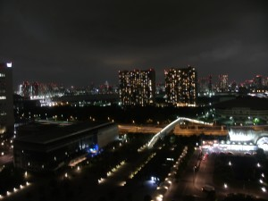 Night view from Ariake Washington Hotel