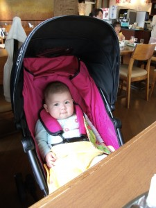 Mariya in a baby carriage