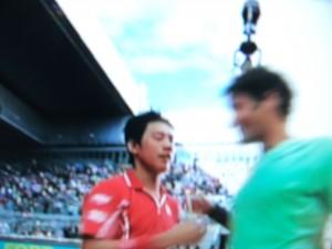 Nishikori and Federer
