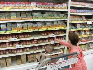 Katya buying babies' foods