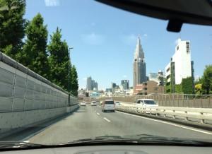 Driving through Tokyo