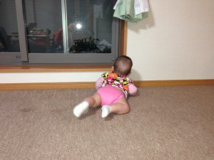 Mariya learning to crawl