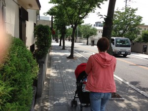 Walking down Takeda Street