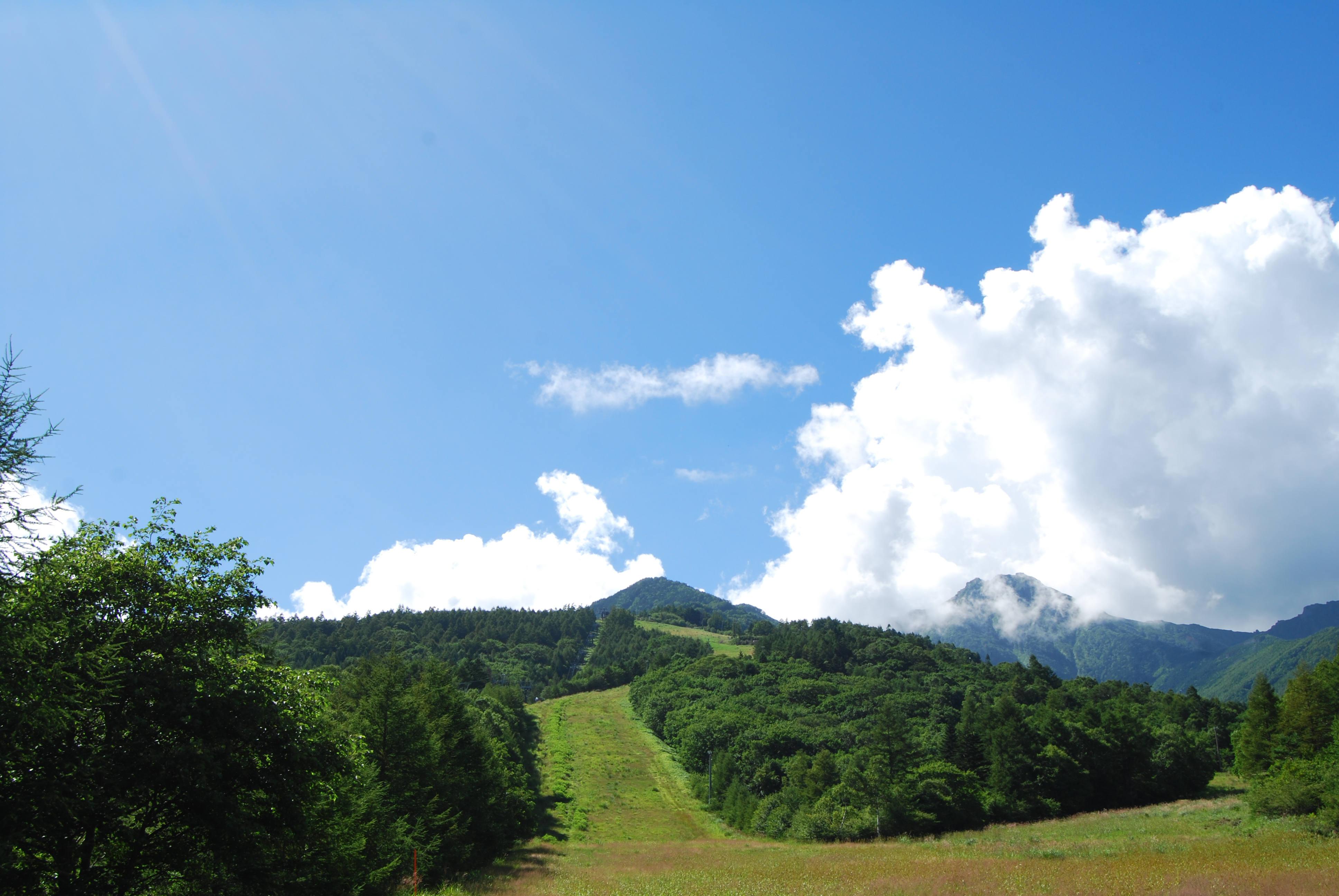 Ski slope on Sun Meadows, Kiyosato, Yamanashi, Japan